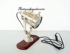 Desktop Vintage Marine Table Lamp Spotlight Search Light Lamp Collectibles Decor