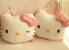 2Pcs Lovely Hello Kitty Auto Car Seat Head Rest Cushion Pillows Neck Rest Pillow