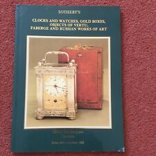 Sotheby's Catalogue Clocks, Watches, Boxes, Faberge, Works of Art 26 Nov 1982