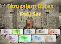 Full SET Gates of Jerusalem | 9 Different Israel Banknotes | Hot Lot 1973 - 1979