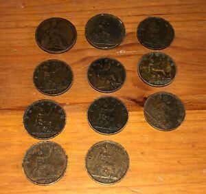 farthings 1822, 1826, 1860, 1861, 1874, 1879, 1885(2), 1886, 1887, 1893