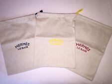SET/3 Hermes Herringbone Pouch Case for Swimsuit Lingerie Le Bain Hermes 12 x 8