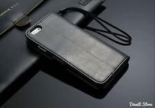 PREMIUM ÉTUI POUR TÉLÉPHONE PORTABLE APPLE iPhone 6 COUVERTURE DE POCHE - Noir (