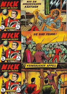 Nick Piccolo 3. Serie, 3er Set mit den Heften Nr. 53-55