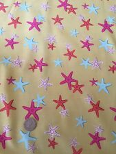 Michael Miller A Sea of Stars Yellow Beach Cotton Quilting Fabric FQ 50cm x 54cm