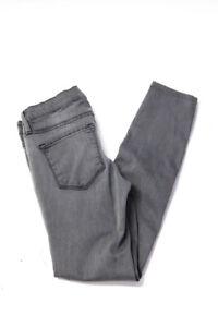 Frame Denim Womens Le Skinny de Jeanne Jeans Gray Size 25