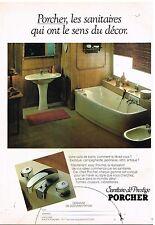 Publicité Advertising 1980 Sanitaire de Prestige Porcher