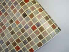 3m * Tapete selbstklebend Mosaik Fliesen bunt 211 Wandtapete Fliesenspiegel