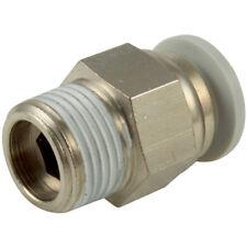 """kelm rácores automáticos de plástico - 08mm x 1/2"""" BSPT gris conector macho"""