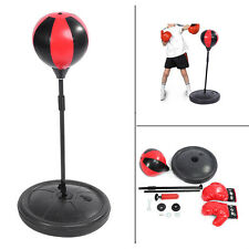 Kids Boxing Training Punch Ball And Boxing Gloves Adjustable 70-105cm Child Gift