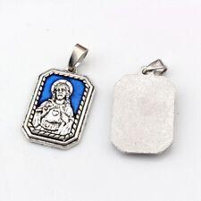 1pcs Blue Enamel Religion Alloy Antique silver charm Pendants Jewelry DIY