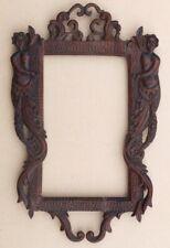 Kleiner Renaissance Rahmen,16./17.Jhd.,geschnitzt mit Figuren,Kunstkammerobjekt