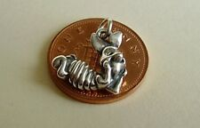 BEAUTIFUL ' PIGLET ' SOLID SILVER 3D CHARM CHARMS