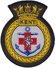 HMS Kent Royal Navy RN Surface Fleet Crest Mod Embroidered Patch