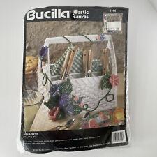 New ListingVtg 1995 Bucilla Plastic Canvas 6144 Bon Appetit Picnic Basket Needlepoint Kit