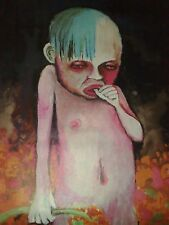 Printed Canvas:MARILYN MANSON-Art painting(no lp,t-shirt)Rare & Limited Giclee