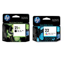 HP 21XL Black + HP 22 Colour Genuine Original Inkjet Cartridge For Deskjet F2280
