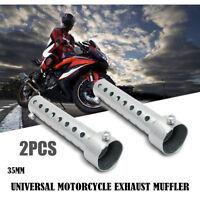 2x Universal 35mm Motorcycle Exhaust Can Muffler Pipe Baffle DB Killer Silencer