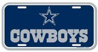 Dallas Cowboys License Logo Plate Schild 30 cm,NFL Football,Neu