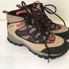 Salomon Womens 8.5 Quest Boots Gore-Tex Hiking Trekker Tan Black Pink Outdoors