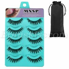 5 Pairs Handmade Natural Soft Makeup Eye Lashes Thick Fake False Eyelashes Set