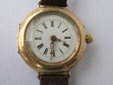 Remontoir Damen Uhr Cylindre 10 Rubis Gold 585(?) gebraucht gangfähig (s.Beschr.