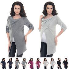 Purpless Maternity 2in1 Pregnancy and Nursing Sweater Cardigan Coat Top B9005