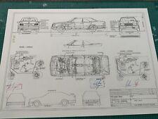 Mercedes W124 Cabriolet ab 1990 Blueprint / Konstruktionszeichnung