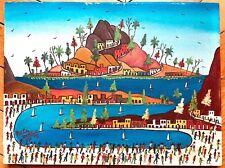 Préfète Duffaut huile sur toile signée 1977 peinture populaire haïtienne art