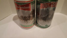 BUDWEISER   HOLIDAY STEIN CANS 12 OZ  CAN *SET OF Two  (2). EMPTY 2020   #2 & #3