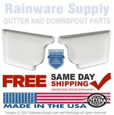 Gutter End Cap 5 Inch Aluminum K Style, White, Clay, Brown, Left, Right, or Pair