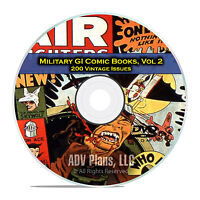 Military, Air Fighters, Soldiers of Fortune, Frogman, Golden Age Comics DVD D13