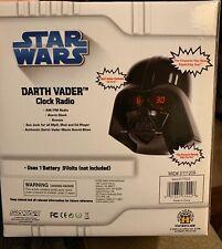 Rare Star wars Darth Vader Clock Radio SAKAR 2009 (White Packaging)