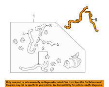 TOYOTA OEM 06-07 Highlander 3.3L-V6 Front Heater Unit-Heater Hose 8720948120
