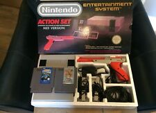 Nintendo Entertainment System Action Set NES Version Console 1990 Boxed x2 Games