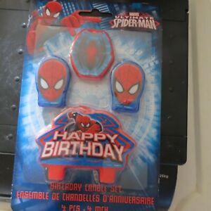 Spiderman Birthday Candle Set (Set Of 4pc)