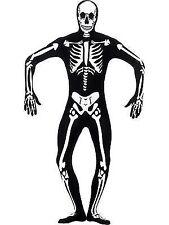 Skeleton Glow in The Dark Second Skin Halloween Adults Mens Fancy Dress Costume Medium