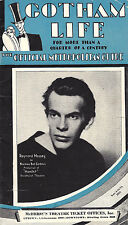 "Raymond Massey ""HAMLET"" Norman Bel Geddes 1931 ""Gotham Life"" New York City Guide"