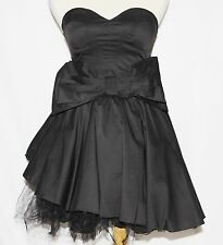 S Strapless Lolita Gothic Goth Emo Rockabilly Burlesque Crinoline Cosplay Dress