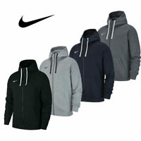 Nike Mens TEAM CLUB 19 JACKET Top Full Zip Hoodie Cotton Sportswear Gym Training