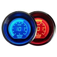 "2"" 52mm Blue Red Water Temp Temperautre Car Digital LED Gauge Meter Tint Len"
