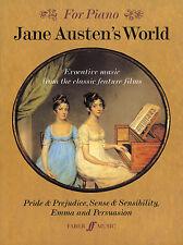 Jane Austens Mundo Película Tv Teclado Piano para jugar en solitario Película Tv Faber música Libro