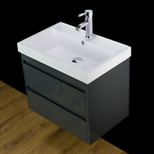 Basin Sink Vanity Unit Cabinet Wall Hung Mounted Bathroom Drawers 600 MM g60