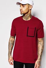 Nike Tech Knit Pocket Men's T Shirt Short Sleeve Top Burgundy Size Small