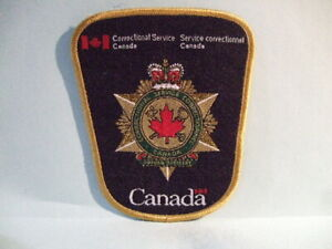 police patch  CORRECTIONAL SERVICE CANADA  FRENCH & ENGLISH VERSION
