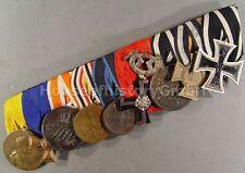 TOP. 9er Ordensspange: Eisernes Kreuz, Militär Ehrenzeichen, Finnland, China