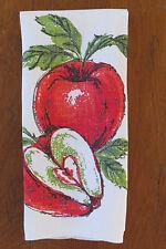 Vintage Red Apples Tea Dish Kitchen Towel Forbidden Fruit Apple Orchard