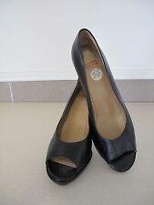 Charles Jourdan Shoes Black platform high heel made France US 9 EU 40.5 UK 7
