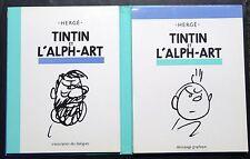 """""""TINTIN ET L'ALPH-ART"""" COFFRET DÉCOUPAGE GRAPHIQUE & TRANSCRIPTION DES DIALOGUES"""