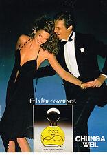 PUBLICITE ADVERTISING 034   1979   WEIL  parfum  CHUNGA